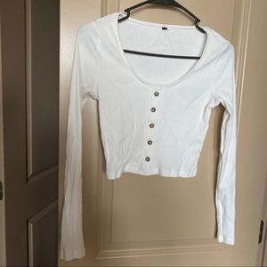 Forever 21 long sleeve cropped shirt